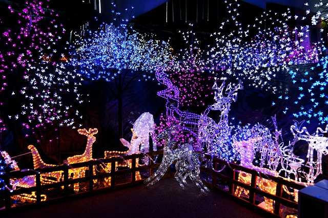 Świąteczna dekoracja ogrodu